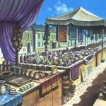 城下町のマーケット