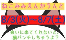8/3(火)~7(土) ねこみみエンカウント@エゴイスト(梅田)